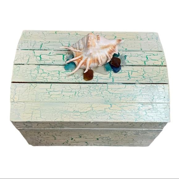 Handpainted OOAK beach theme box